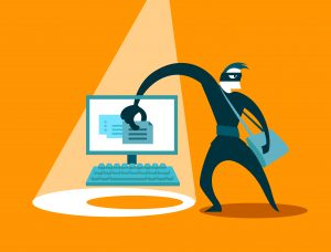 The swindler steals data